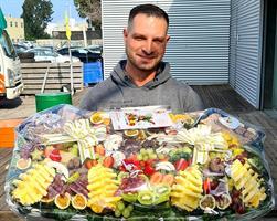 Biga fruits basket combining fruits sushi - ביגה משולבת