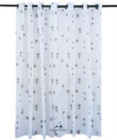 וילון כוכבים רקומים על בד קרפ שקוף, מודרני במיוחד! - דגם סטאר