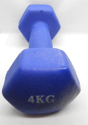 משקולות משקולת יד לאימון גופני וכושר כללי לנשים וגברים 4 קג צבע כחול המחיר למשקולת בודדת