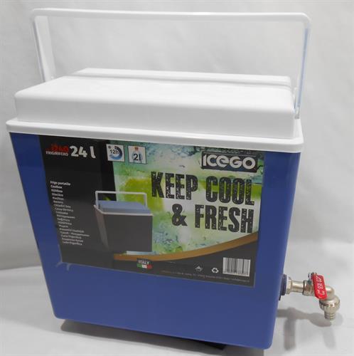 צידנית עם ברז 24 ליטר מיכל מים או שתיה לכל דבר כולל שמירה על הטמפרטורה