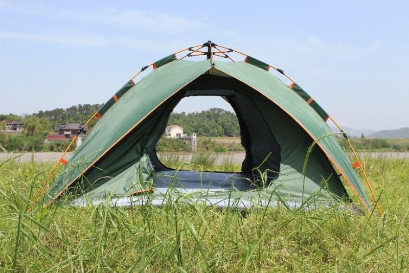אוהל משפחתי ל- 4 אנשים מנגנון פתיחה מהירה אוטומטי אוהל 3 עונות שתי שכבות עם שתי כניסות רחבות