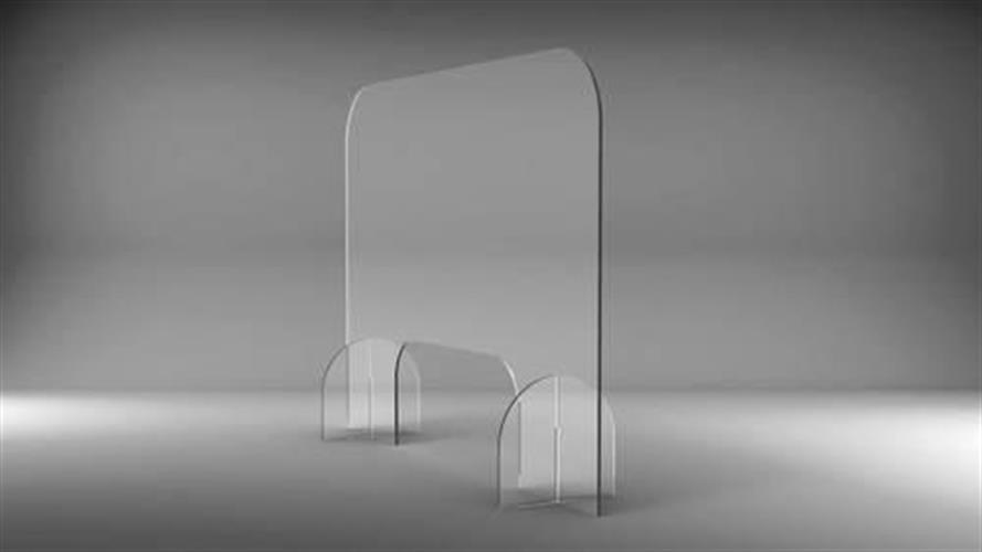 """מחיצת הגנה מלוח פרספקס בעובי 4 מ""""מ 50X70 ס""""מ"""