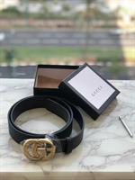 חגורת גוצ'י בינונית - אבזם זהב (מגיע עם אריזה)