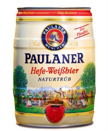 חבית בירה ביתית –Paulaner- בנפח 5 ליטר עם ברז נשלף ונוח לשימוש  – (כשר)