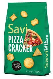 קרקרים  בטעם פיצה 400 גרם  SAVI PIZZA