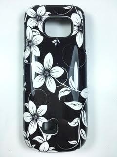 מגן כפול לנוקיה NOKIA C2 דגם פרחים שחור לבן