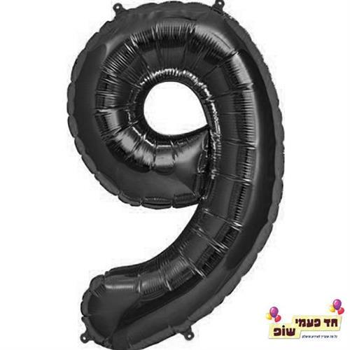 בלון 34 אינץ' 9 שחור (ללא הליום)