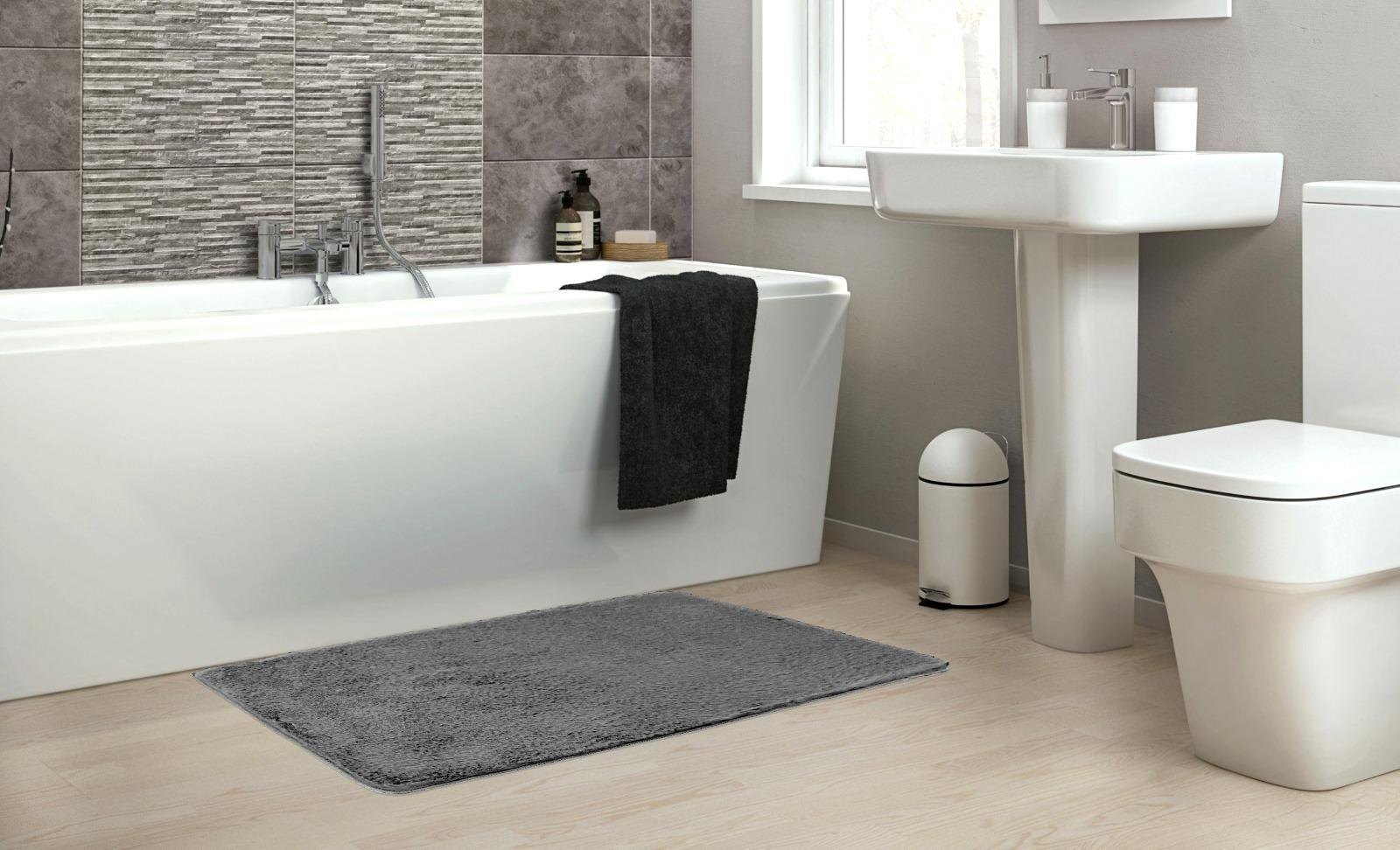 שטיח אמבטיה אפור כהה דגם Soft סופט - נעים במיוחד!