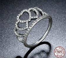 טבעת כתר - כסף אמיתי