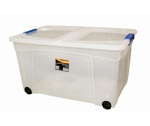 קופסת אחסון עם סגרים - דגם דניאל 60 ליטר