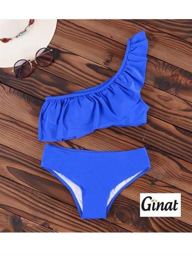 בגד-ים בקיני כתף אחת blue