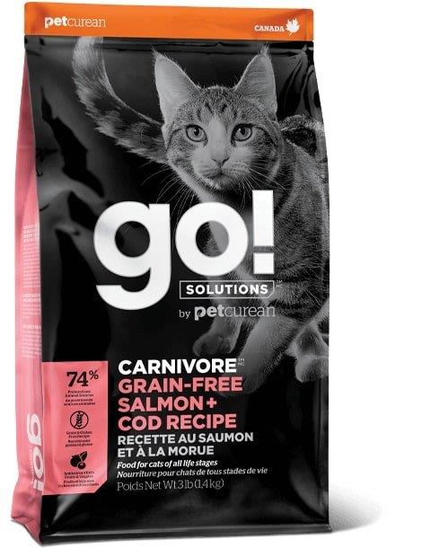 """גו! קרניבור מזון יבש לחתול  סלמון ודג קוד 3.7 ק""""ג"""