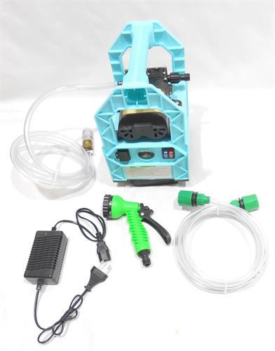 מכונת שטיפה מכונה ניידת לניקוי  כללי מכוניות  ומזגנים ו 12 וולט נטענת עם סוללה מובנית