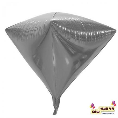 בלון יהלום 24 אינץ' כסף (ללא הליום)