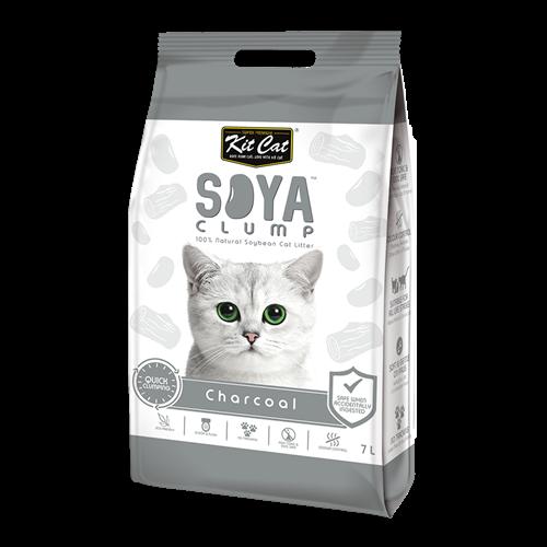 חול  חתולים אורגני סויה בניחוח פחם 7 ליטר