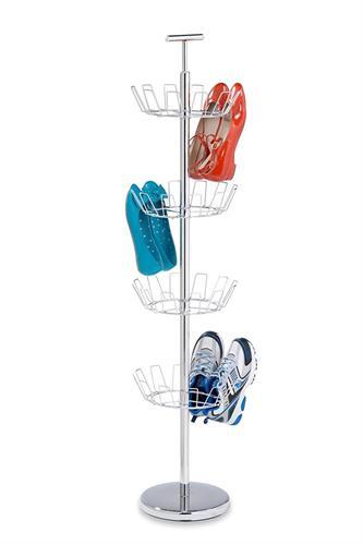מתקן עומד  4 קומות לנעליים מניקל  דגם SHO-01483