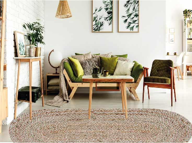 """שטיח דגם - """"ברגר"""" יוטה טבעי קלוע בעבודת יד"""