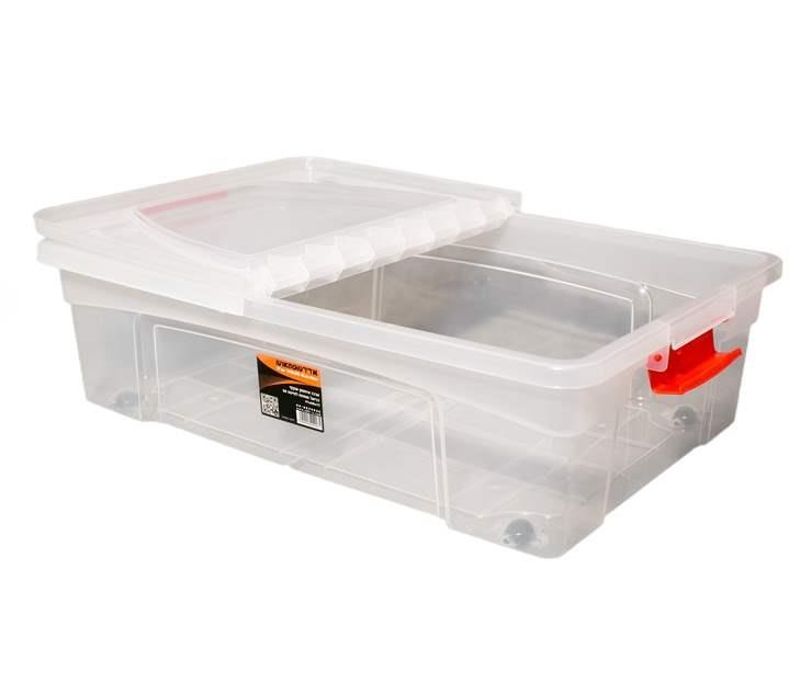 קופסת אחסון עם סגרים - דגם דניאל 80 ליטר