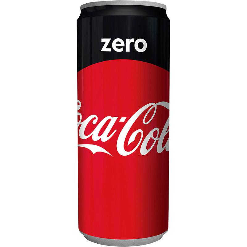 קוקה קולה זירו פחיות (תוצרת חוץ) כשר ארגז 24 יח'