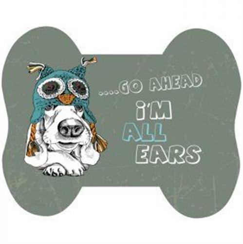 שטיחון   מעוצב כלב  קול בסיס לקערות מזון/מים