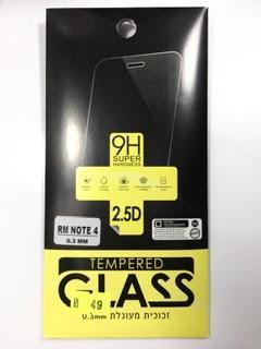 מדבקת זכוכית לשיאומי רדמי נוט Xiaomi Redmi Note 4