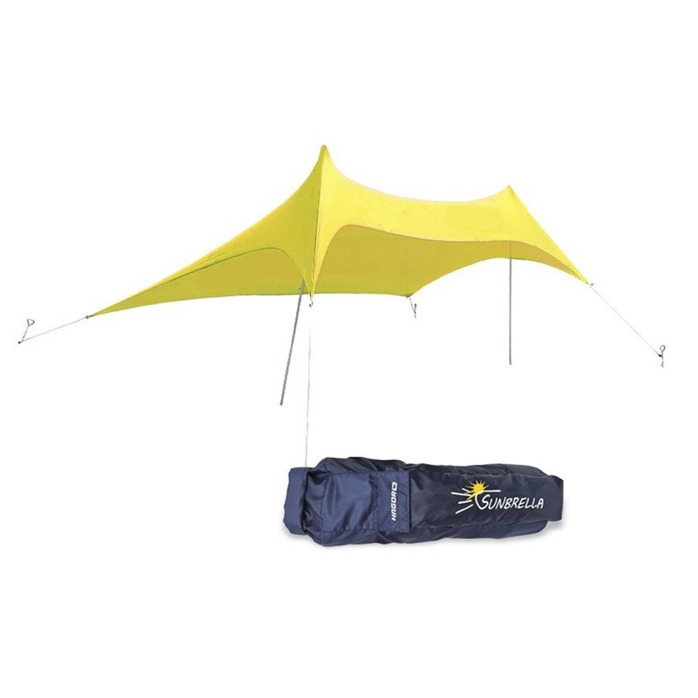ציליה סאנברלה  אוהל חוף  של חגור מתאים להצללה לחוף הים סככת צל מידה גדולה 3.1X2.8 מטר