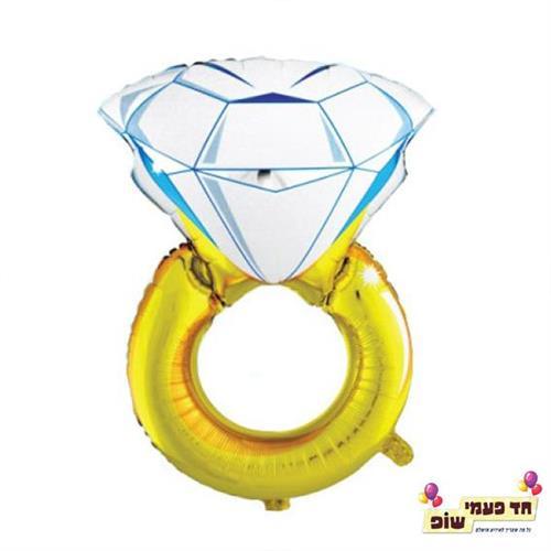 בלון טבעת זהב (ללא הליום)