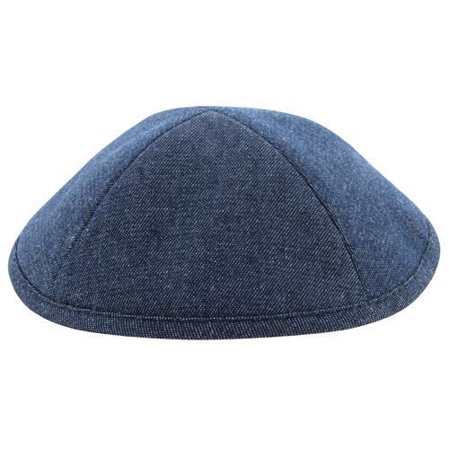 """כיפה ג'ינס כחול כהה 19 ס""""מ עם מקום לסיכה"""