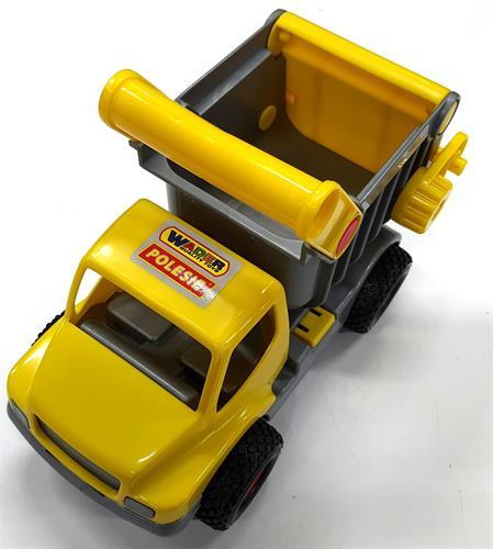 משאית עבודה צהובה גלגלי גומי