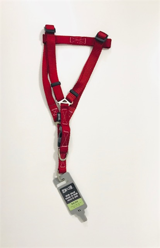 רתמת ניילון A -זאוס גודל M אדום לכלב קטן-בינוני