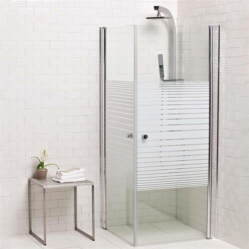 מקלחון פינתי שני דלתות 90/90 או 80/80