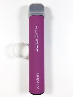 סיגריה אלקטרונית חד פעמית כ 1500 שאיפות Kubibar Disposable 20mg בטעם ענבים אייס Grape Ice