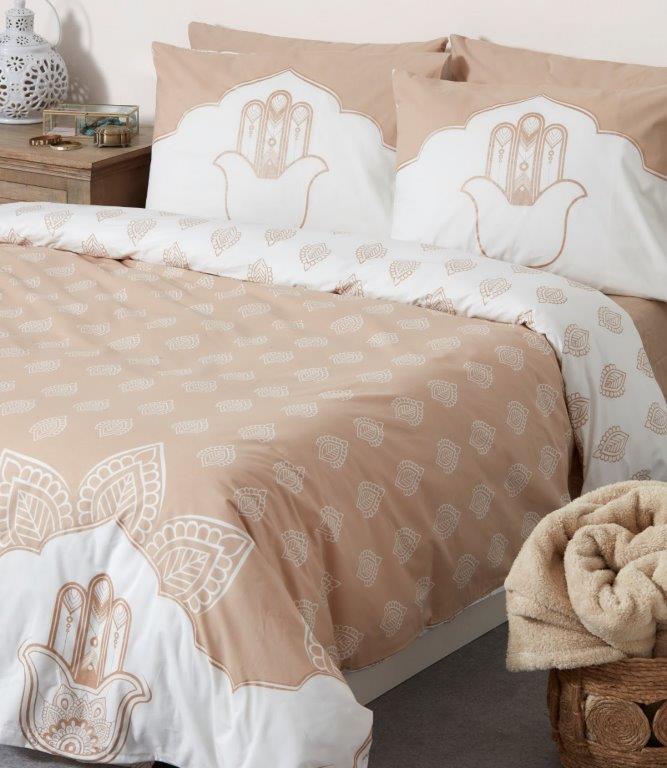 סט מצעים למיטה 5 חלקים 100% כותנה - הרודס