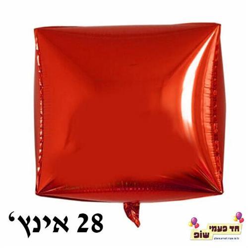 בלון מרובע 28 אינץ' אדום (ללא הליום)
