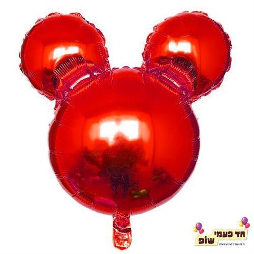 בלון 18 אינץ' מיקי ראש אדום (ללא הליום)
