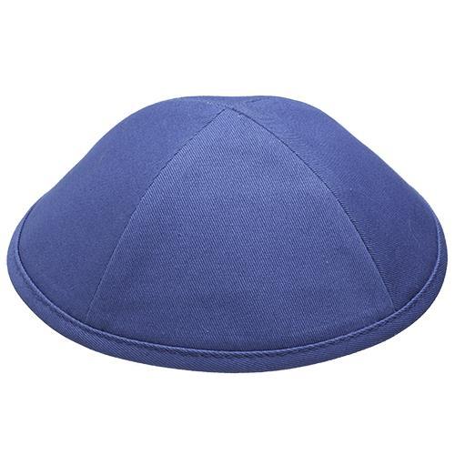 """כיפה בד כחול גודל 5 20 ס""""מ"""