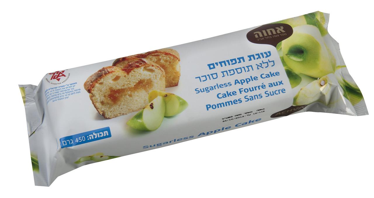 אחוה עוגה ללא סוכר 450גר. תפוחים - מבצע 2 יח'
