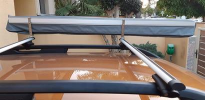 גגון דאציה דאסטר פסי רוחב אלומיניום עם סככת צל מסוג מניפה (סככת צל חסר במלאי כעת)