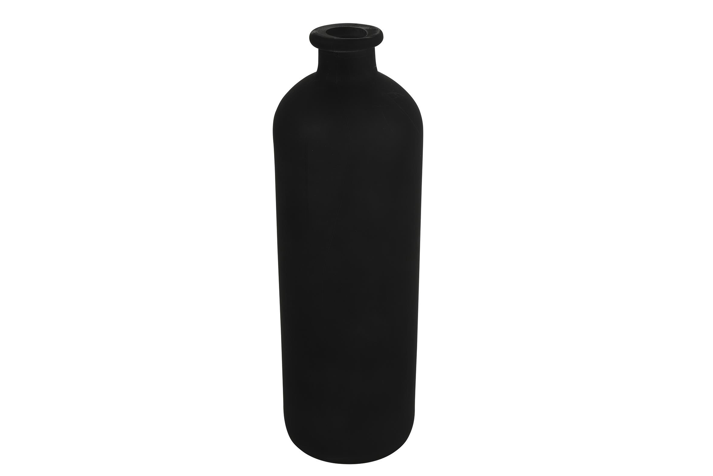 בקבוק זכוכית שחור אטום L