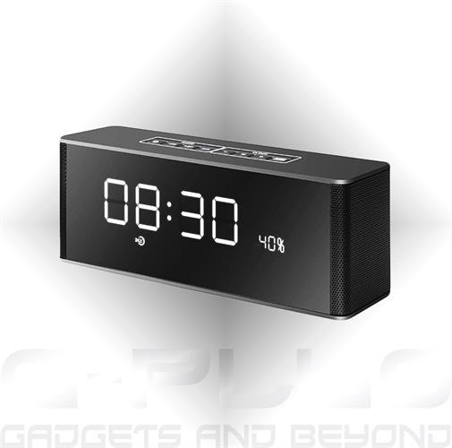 רמקול בלוטוס יוקרתי משולב שעון מעורר 'LP-06'