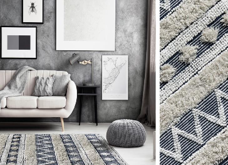 """שטיח דגם - """"הוואנה"""" כותנה אותנטי בעבודת יד"""