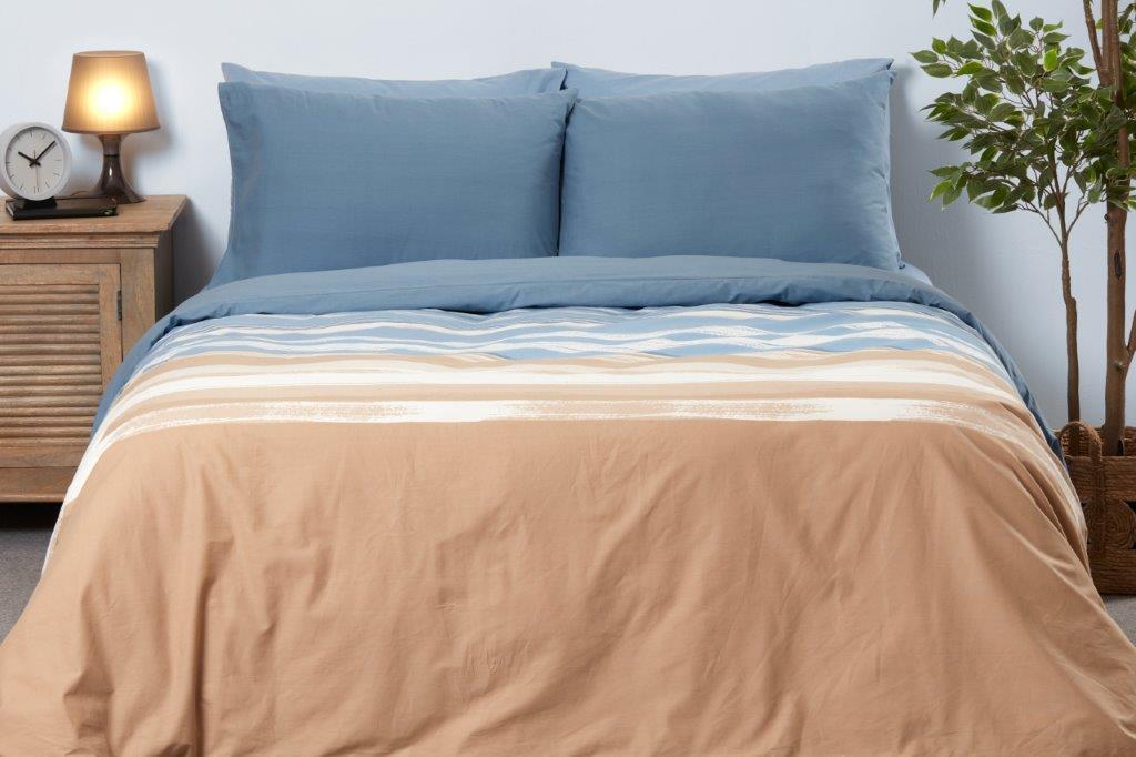 סט מצעים מיטה וחצי 100% כותנה גבע