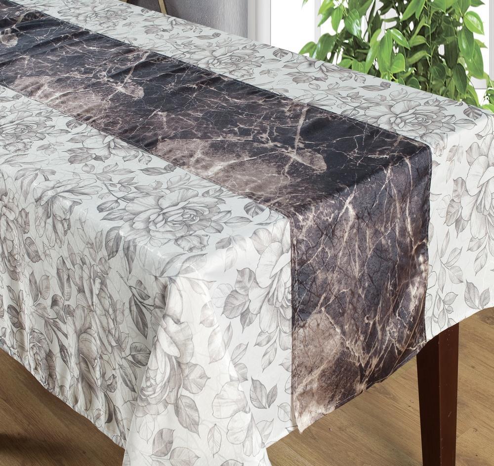 סט מפת שולחן +ראנר - רומנטקס דגם Marbel