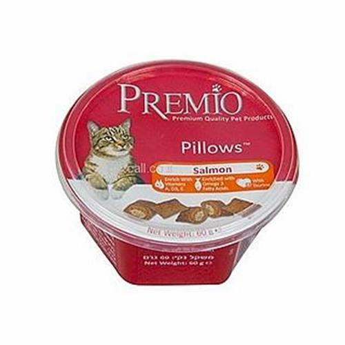 Premio Pillows חטיפי פרמיו לחתולי בית למניעת כדורי שיער 60 גרם (hairball)