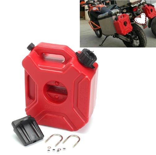 מיכל שטוח 3 ליטר לדלק בנזין סולר או מים צבע אדום עם אפשרות לרכישת  מתקן תלייה תפס בנפרד