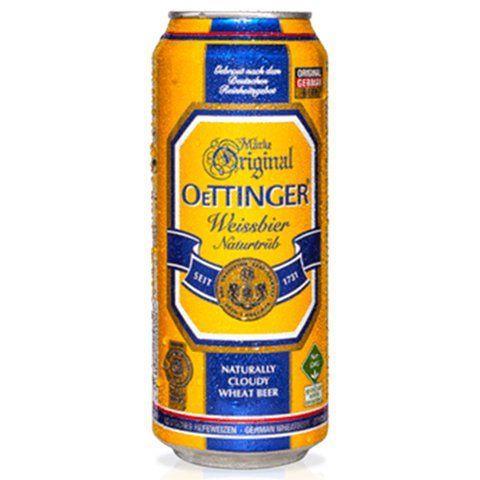 """בירה פחיות אותינגר  500 מ""""ל  חיטה היף ואיזן  24 יח'"""