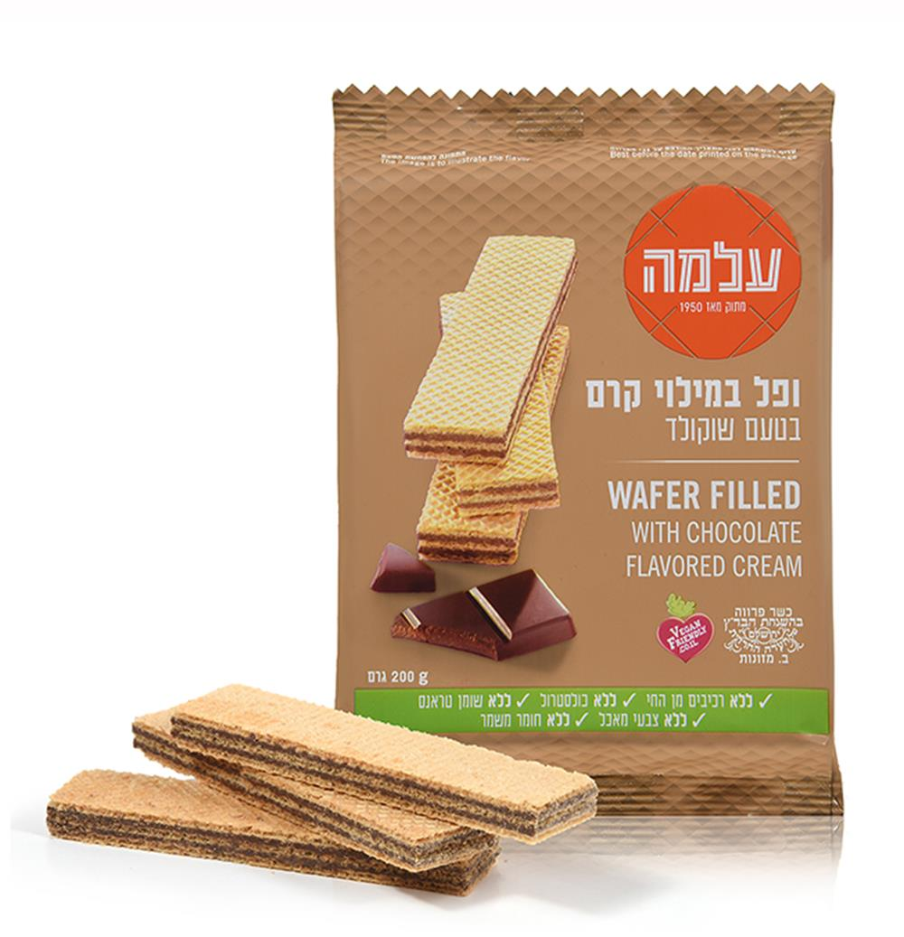 עלמה וופל טעם שוקו ממולא שוקולד 200 גרם -מבצע 5 יח'