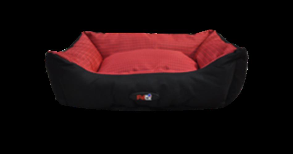 מיטה לכלב בצבע אדום מבד הדוחה מים גודל 60X50X20 פטקס