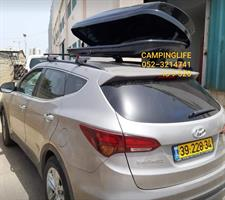 ארגז  520 ליטר תא חפצים לגג הרכב צבע שחור בלבד