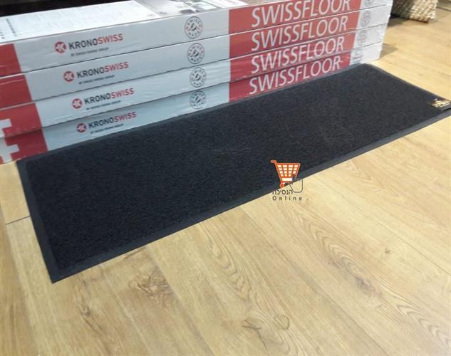 שטיח כניסה -  XL  - חלק  -שטיח כניסה גומי  צבע שחור \ אפור          מידה      120*40   תוצרת סין